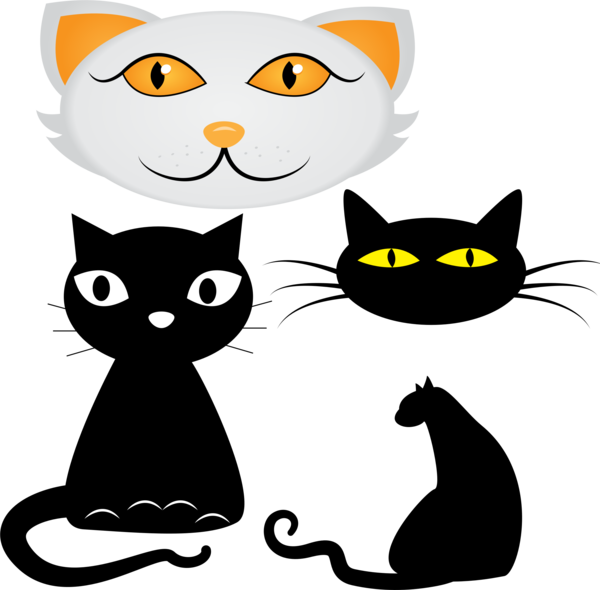 Transparent Cat Cat Whiskers Cartoon Clipart for Animals