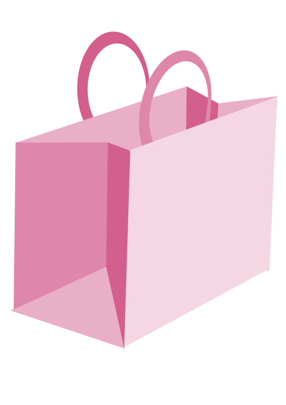 Transparent Shopping Magenta Box Rectangle Clipart for Clothing