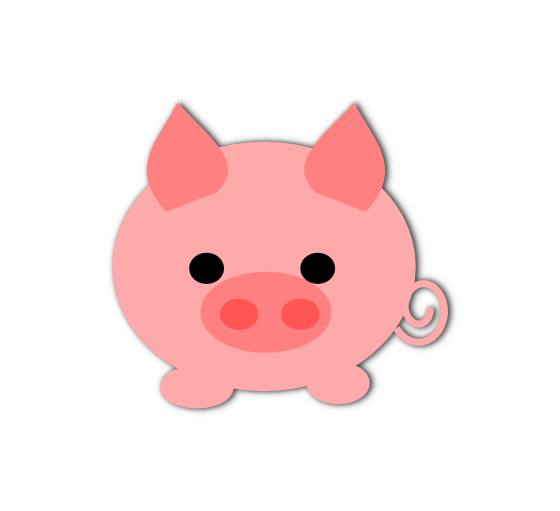 Transparent Cat Pig Nose Cartoon Clipart for Animals
