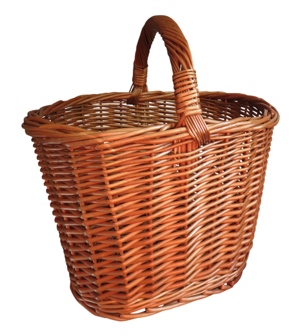Transparent Picnic Basket Wicker Storage Basket Clipart for Activities