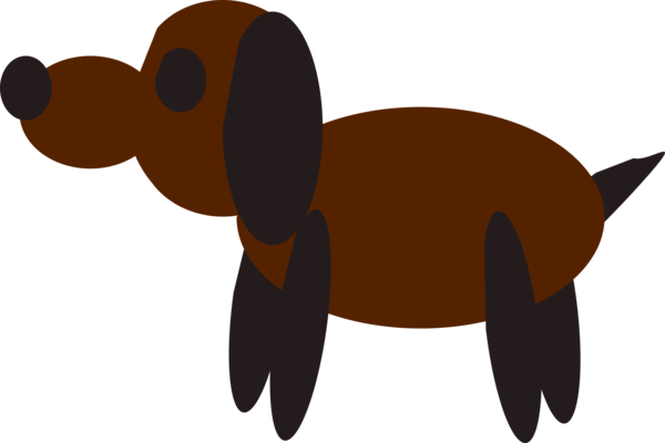 Transparent Dog Snout Tail Silhouette Clipart for Animals