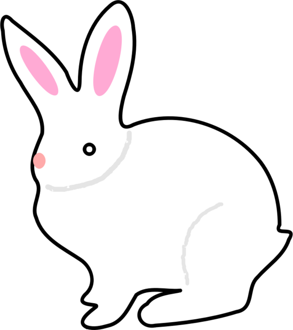 Transparent Cat Rabbit Line Art Black And White Clipart for Animals