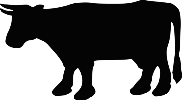 Transparent Cow Black And White Silhouette Wildlife Clipart for Animals