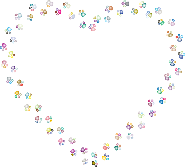 Transparent Cat Text Heart Body Jewelry Clipart for Animals