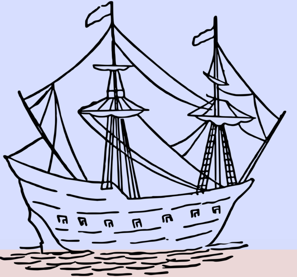 Transparent Boating Sailing Ship Caravel Tall Ship Clipart for Activities