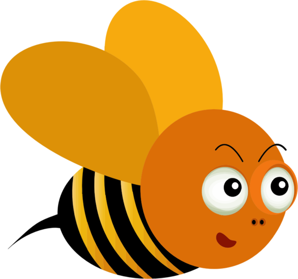 Transparent Bee Cartoon Insect Honey Bee Clipart for Animals
