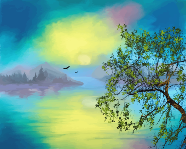 Transparent Bird Sky Nature Painting Clipart for Animals