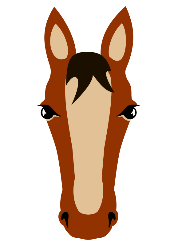 Transparent Horse Nose Head Horn Clipart for Animals