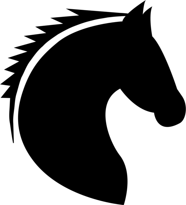 Transparent Cat Horse Black And White Silhouette Clipart for Animals