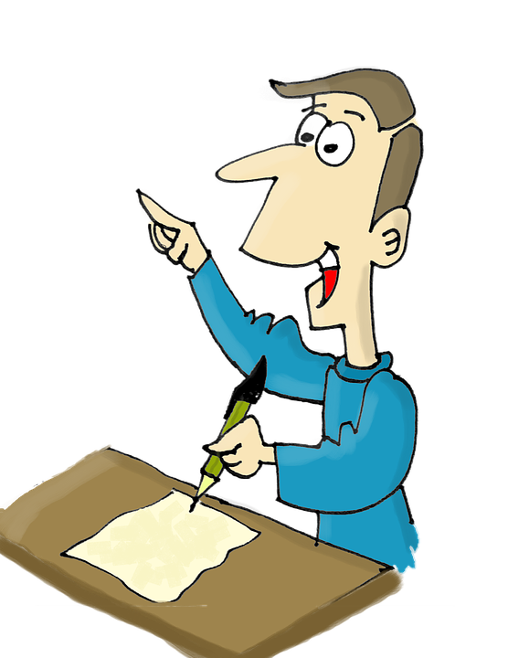 Transparent Reading Cartoon Male Hand Clipart for Activities