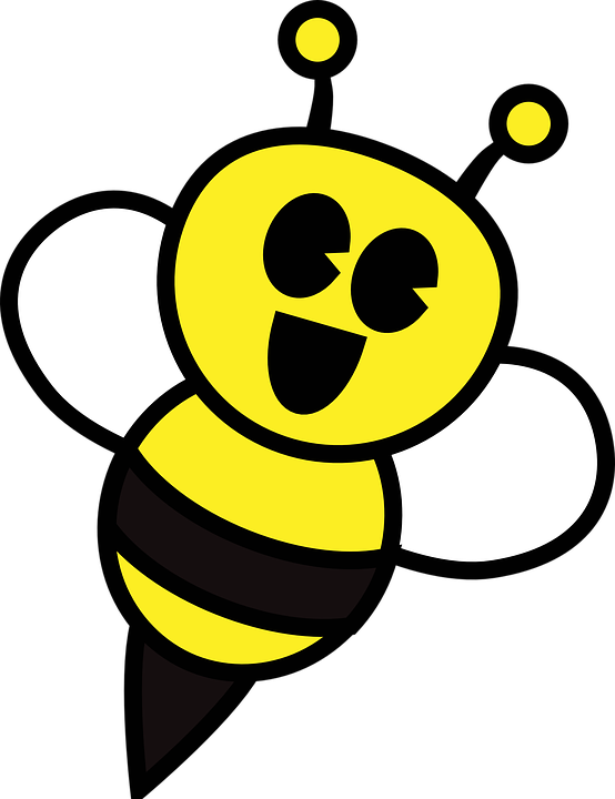 Free Bee Honey Bee Insect Smiley Clipart Clipart Transparent Background