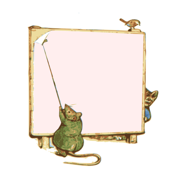 Transparent Cat Picture Frame Cat Tail Clipart for Animals