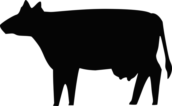 Transparent Cow Black And White Silhouette Dairy Cow Clipart for Animals