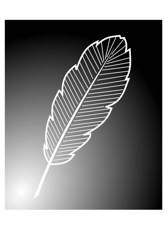 Free Bird Black And White Feather Leaf Clipart Clipart Transparent Background