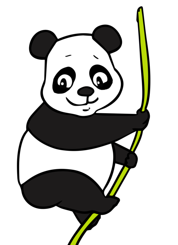 Free Bear Black And White Line Smile Clipart Clipart Transparent Background