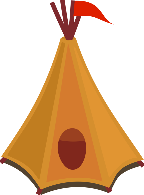 Transparent Camping Triangle Line Cone Clipart for Activities