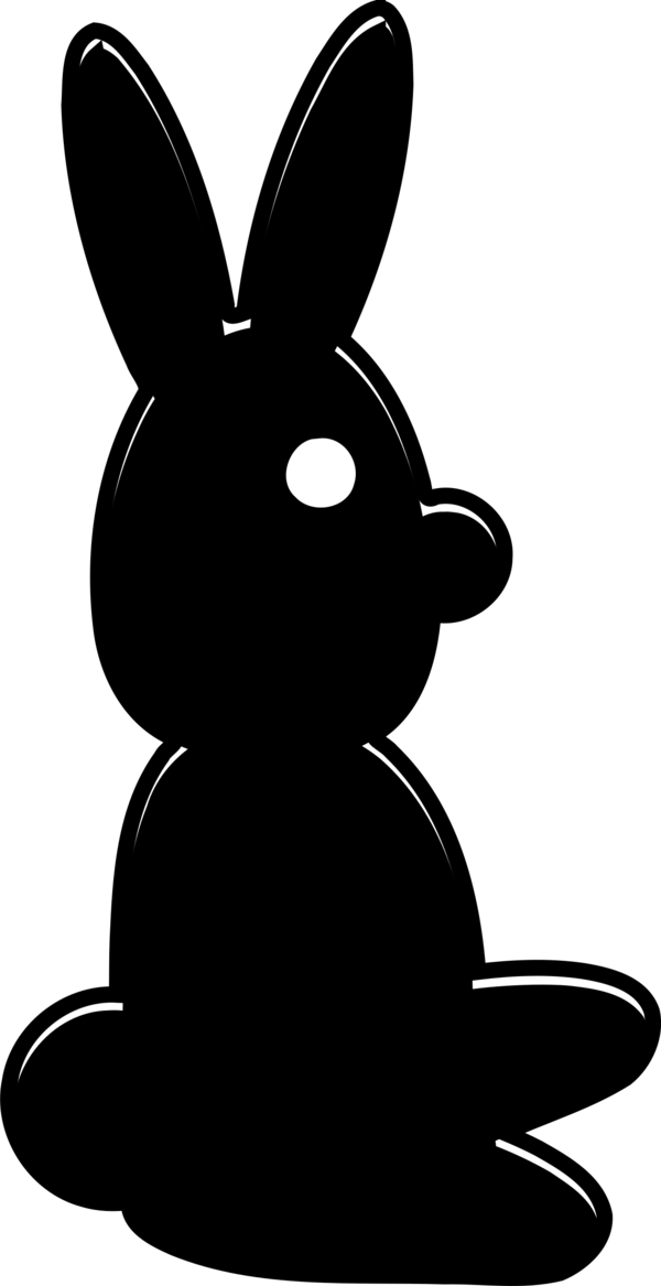 Transparent Cat Black And White Rabbit Silhouette Clipart for Animals