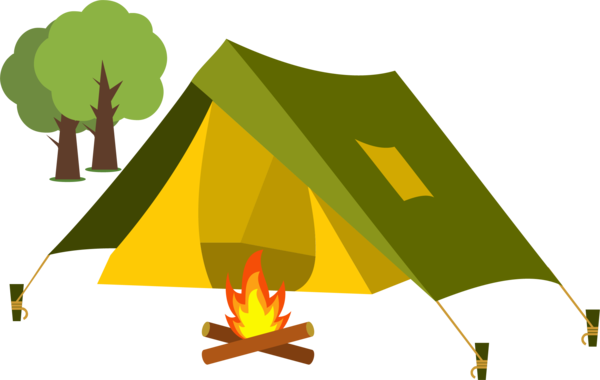 Free Camping Leaf Tree Triangle Clipart Clipart Transparent Background