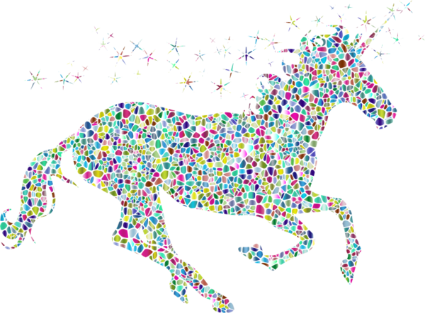 Transparent Horse Line Horse Body Jewelry Clipart for Animals
