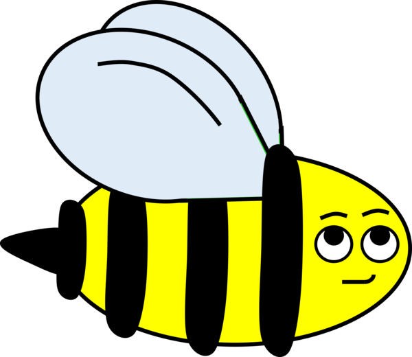 Bee Line Black And White Insect Clipart - Bee Clipart ... (600 x 520 Pixel)