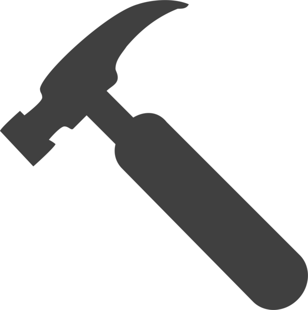 Transparent Hunting Black And White Pickaxe Hammer Clipart for Activities