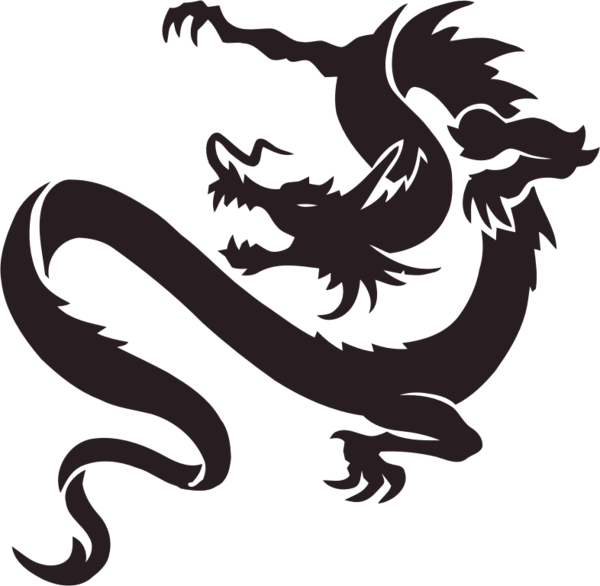Transparent Dragon Black And White Silhouette Dragon Clipart for Animals