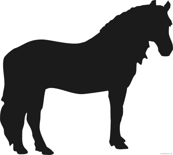 Transparent Horse Horse Mane Black And White Clipart for Animals