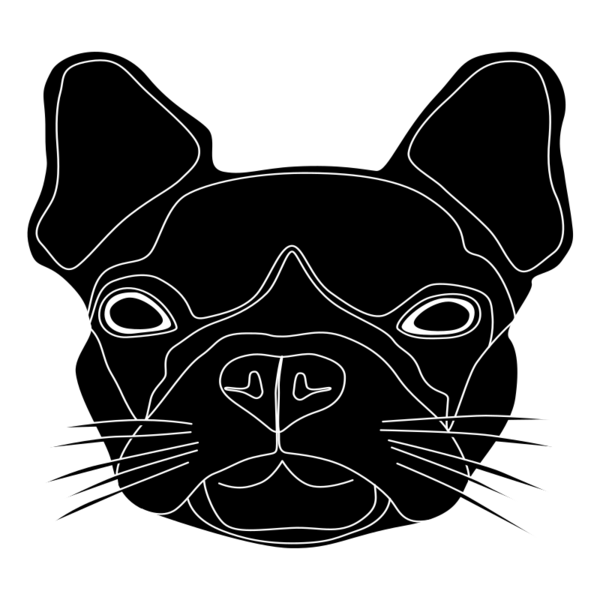 Transparent Dog Dog Black And White French Bulldog Clipart for Animals