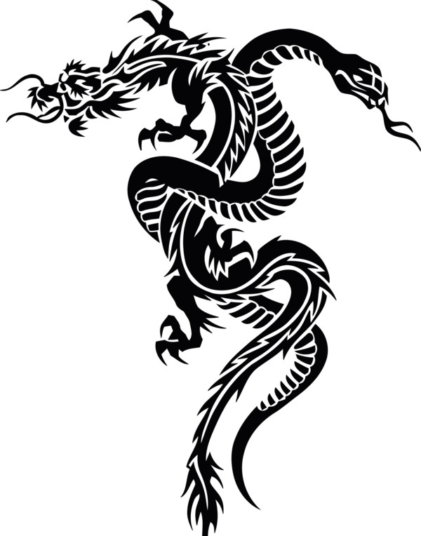 Transparent Dragon Black And White Dragon Tree Clipart for Animals