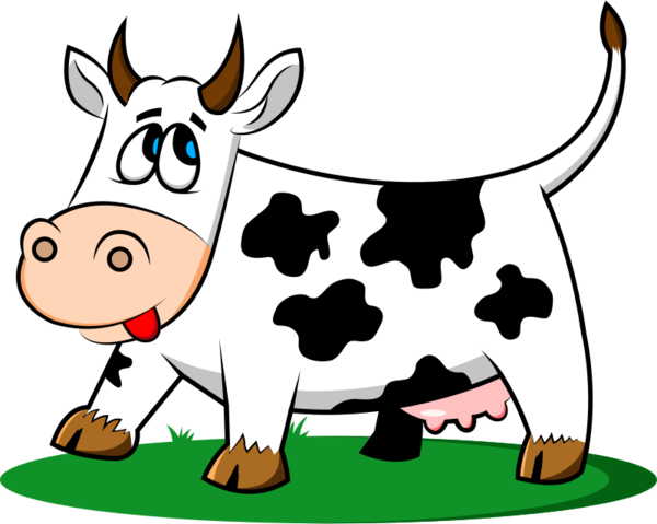 Transparent Cow Dairy Cow Area Food Clipart for Animals