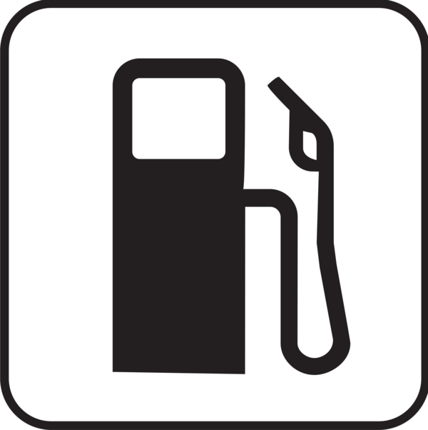 Transparent Gas Station Black And White Text Line Clipart for Buildings