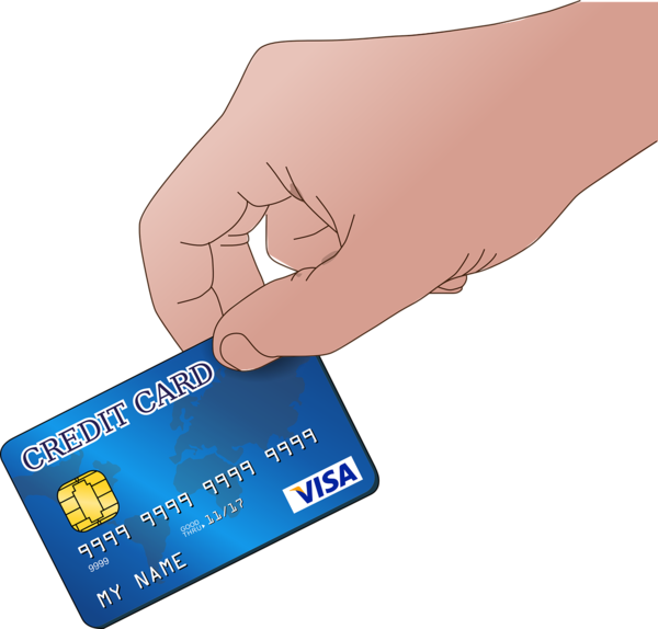 Transparent Atm Hand Finger Payment Card Clipart for Money