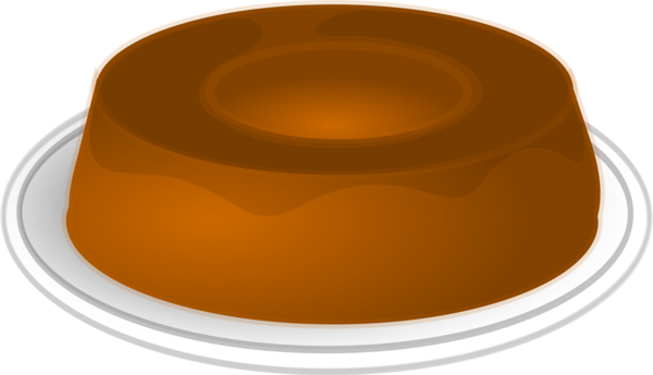 Transparent Dessert Tableware Dish Caramel Color Clipart for Food