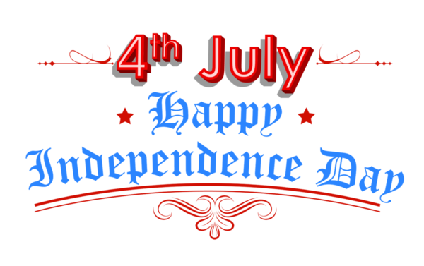 Transparent Fourth Of July Text Logo Line Clipart for Holidays