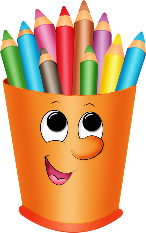 Transparent Book Pencil Party Hat Clipart for School