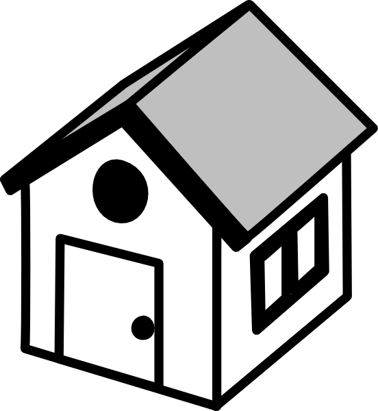 Transparent House Black And White House Line Clipart for Buildings