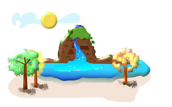 Transparent Water Play Recreation Clipart for Nature