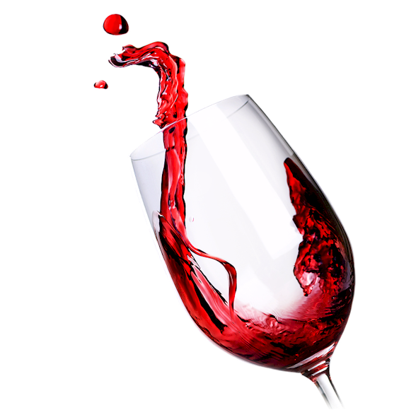 Transparent Wine Stemware Red Wine Tableware Clipart for Drink