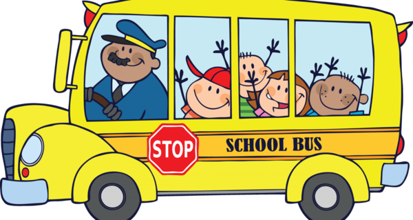 Transparent School Vehicle Transport Cartoon Clipart for Buildings