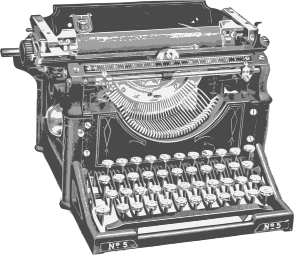 Transparent Office Typewriter Office Supplies Office Equipment Clipart for Business