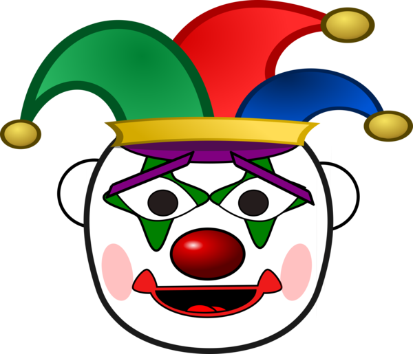 Transparent Clown Clown Smile Smiley Clipart for People