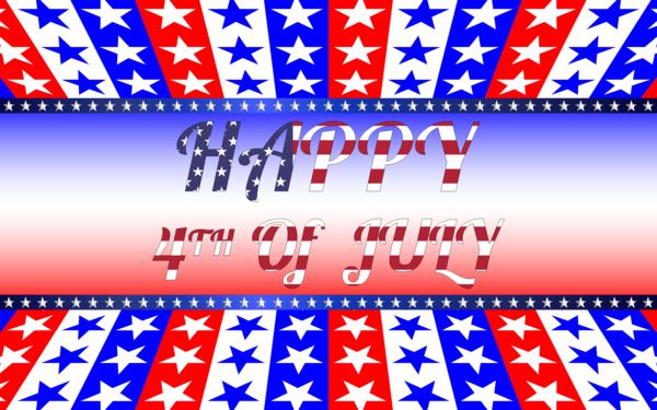 Transparent Fourth Of July Text Flag Of The United States Line Clipart for Holidays
