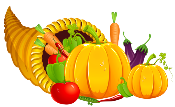 Transparent Thanksgiving Vegetable Fruit Food Clipart for Holidays