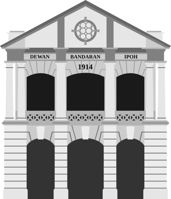 Transparent House Structure Landmark Black And White Clipart for Buildings