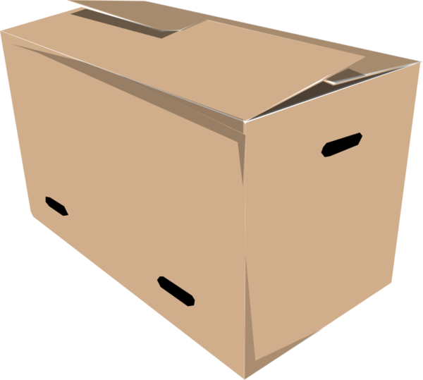 Transparent Delivery Box Carton Cardboard Clipart for Business