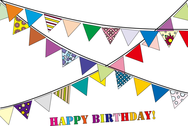 Transparent Birthday Text Triangle Line Clipart for Occasions