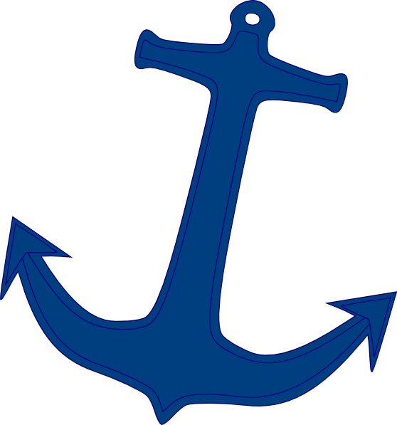 Free Navy Anchor Line Clipart Clipart Transparent Background
