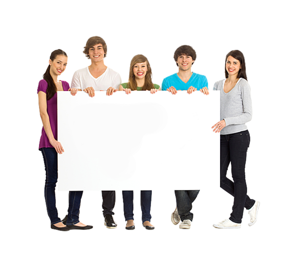 Transparent Sales People Social Group Standing Clipart for Business