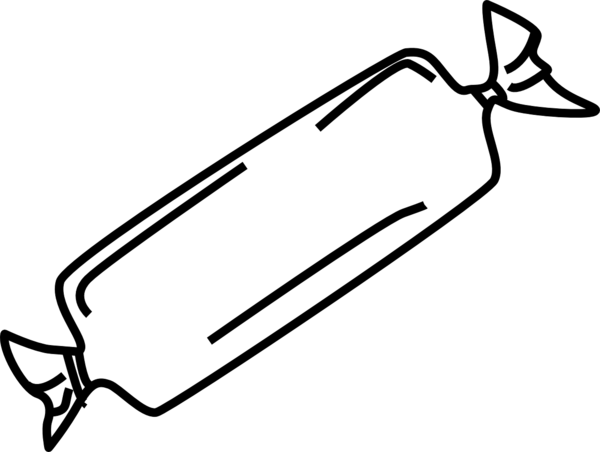 Transparent Candy Black And White Line Line Art Clipart for Food
