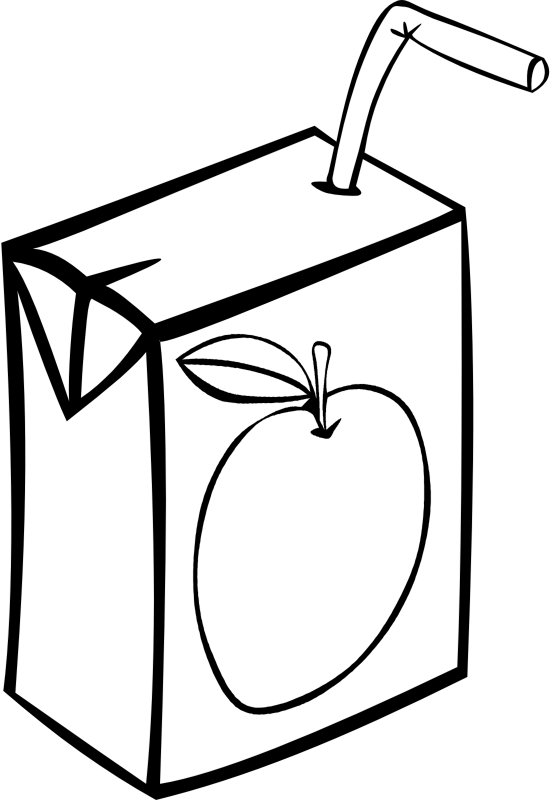 Transparent Juice Black And White Text Line Art Clipart for Drink